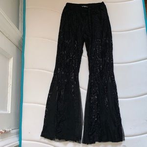 Zara mermaid leg lace pants